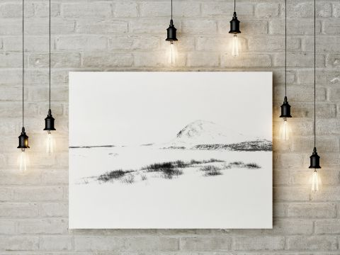 Fine-art print on wall